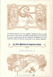 Verso de La fille Maudite du Capitaine Pirate -1- Volume premier