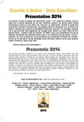 Verso de Concile à Bulles - Strip Concilium - Concile à Bulles 2014