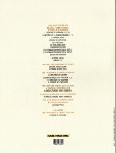 Verso de (AUT) Juillard - Blake et Mortimer - Les carnets d'André Juillard