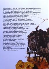 Verso de (AUT) Pratt, Hugo (en italien) -TL- Una vita come un romanzo a fumetti