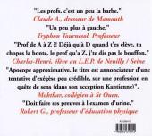 Verso de Illustré (Le Petit) (La Sirène / Soleil Productions / Elcy) - Le Petit Dico Illustré des profs