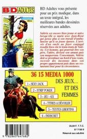 Verso de Confessions érotiques BD (Média 1000) -94- Valérie : Délaissée par mon mari, j'ai découvert le vice dans les bras de ses amis...