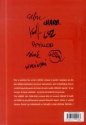 Verso de Dessinateurs de presse - Entretiens avec Cabu, Charb, Kroll, Luz, Pétillon, Siné, Willem et Wolinski