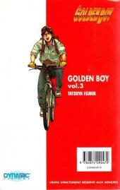 Verso de Golden Boy -3- Vol 3