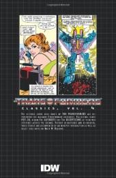 Verso de Transformers (The) (1984) -INT04- Classics volume 4