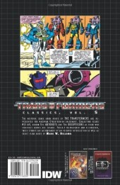 Verso de Transformers (The) (1984) -INT05- Classics volume 5