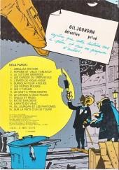 Verso de Gil Jourdan -2a1981- Popaïne et vieux tableaux