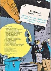 Verso de Gil Jourdan -9b81- Le gant à 3 doigts