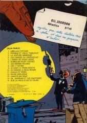 Verso de Gil Jourdan -14a1981- Gil jourdan et les fantômes
