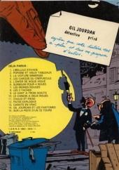 Verso de Gil Jourdan -15b81- Sur la piste d'un 33 tours