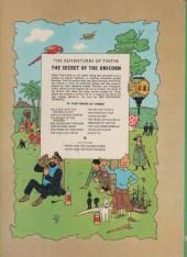 Verso de Tintin (The Adventures of) -11a71- The Secret of the Unicorn