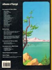 Verso de Tintin - Divers -C3d- Tintin et le lac aux requins