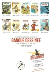 Verso de (Catalogues) Ventes aux enchères - Divers - Banque Dessinée - 34ème vente - dimanche 23 février 2014 - Bruxelles hôtel de ventes des Casernes