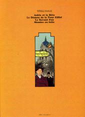 Verso de Adèle Blanc-Sec (Les Aventures Extraordinaires d') -3a79- Le savant fou