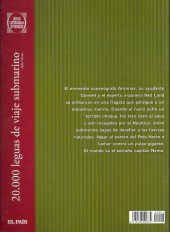 Verso de Joyas Literarias Juveniles -2- 20.000 leguas de viaje submarino