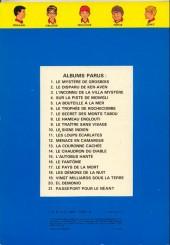 Verso de La patrouille des Castors -3b79- L'inconnu de la villa mystère