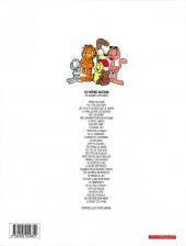 Verso de Garfield -30a2001- Dur de la feuille