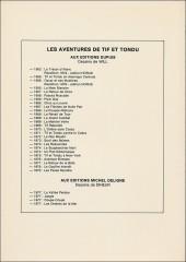 Verso de Tif et Tondu -1TL- Le trésor d'Alaric