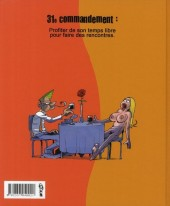 Verso de Les 40 commandements - Les 40 commandements du célibataire