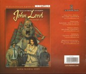Verso de John Lord -Cat- Catalogue de l'exposition John Lord - Premier tryptique : Bêtes sauvages