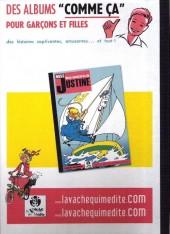 Verso de Miss Justine (Aventures de) -1- Onze aventures de Miss Justine - Intégrale tome 1