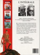 Verso de Bob Morane 8 (Intégrale Dargaud-Lombard) -5- Géants et dinosaures