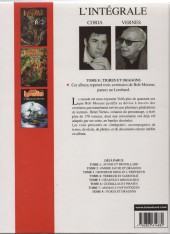 Verso de Bob Morane 8 (Intégrale Dargaud-Lombard) -8- Tigres et dragons