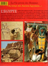 Verso de La vie privée des Hommes -3- Au temps des anciens egyptiens