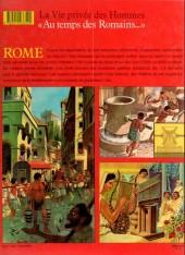 Verso de La vie privée des Hommes -9- Au temps des Romains... - Rome