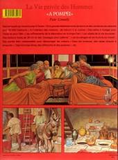 Verso de La vie privée des Hommes -13- A pompéi