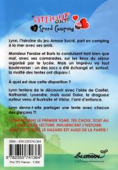 Verso de Amour sucré -2- Speed Camping