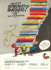 Verso de Spirou et Fantasio -6c1981- La corne de rhinocéros