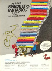 Verso de Spirou et Fantasio -6d81- La corne de rhinocéros