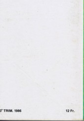 Verso de Z33 agent secret -Rec37- Collection reliée N°37 (du n°145 au n°148)