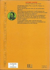Verso de Histoire Juniors -5- Pasteur