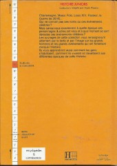 Verso de Histoire Juniors -10- Guillaume le Conquérant