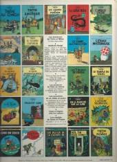 Verso de Tintin (Historique) -12C5- Le trésor de Rackham Le Rouge