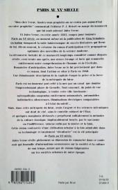 Verso de (AUT) Schuiten, François -3- Paris au XXè siècle