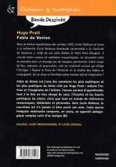 Verso de Corto (Casterman chronologique) -25Sco- Fable de Venise
