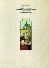 Verso de Adèle Blanc-Sec (Les Aventures Extraordinaires d') -4- Momies en folie