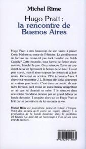 Verso de (AUT) Pratt, Hugo -Roman- Hugo Pratt : la rencontre de Buenos Aires