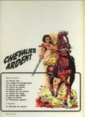 Verso de Chevalier Ardent -1a1978- Le prince noir