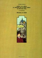 Verso de Adèle Blanc-Sec (Les Aventures Extraordinaires d') -2a76- Le démon de la tour Eiffel