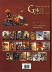 Verso de La geste des Chevaliers Dragons -19- L'Antidote