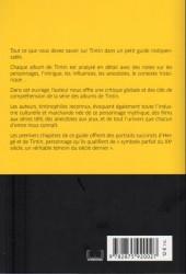 Verso de Tintin - Divers - Tintin et les secrets dévoilés - Le guide indispensable des albums BD