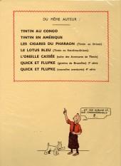 Verso de Tintin (Fac-similé N&B) -7- L'île noire