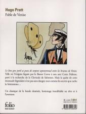 Verso de Corto Maltese -7Poch- Fable de Venise