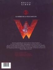 Verso de Wanted (Rocca / Girod) -3- Le shérif de la ville sans loi