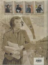 Verso de Femmes en résistance -2- Numéro 2 - Sophie Scholl