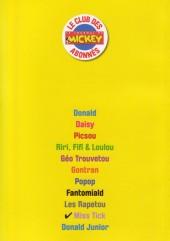 Verso de Les héros de Donaldville -10- Miss Tick
